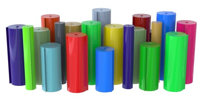 Rolls of plastic