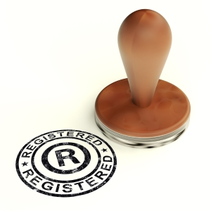 Registered Stamp Showing Copyright Or Trademark